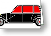 Asbjorn Lonvig Greeting Cards - Family Limo - Virtual Car Greeting Card by Asbjorn Lonvig