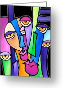 Abstract Music Greeting Cards - Family Time Greeting Card by Tom Fedro - Fidostudio