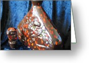 One Of A Kind Ceramics Greeting Cards - Family Urn Greeting Card by John Johnson