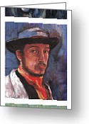 Reproductions Greeting Cards - Famous Artists  Greeting Card by Tom Roderick
