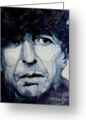 Singer Painting Greeting Cards - Famous Blue raincoat Greeting Card by Paul Lovering