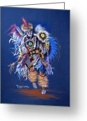 Male Pastels Greeting Cards - Fancy Dancer II Greeting Card by Tanja Ware