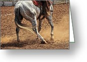 Quarter Horse Greeting Cards - Fancy Footwork Greeting Card by Karen Slagle