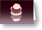 Cup Cakes Greeting Cards - Fancy Red Velvet Cupcakes Greeting Card by Tracie Kaska