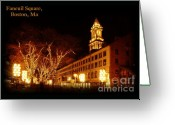 Faneuil Greeting Cards - Faneuil Market Greeting Card by Frank Garciarubio