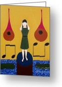 Merchandise Painting Greeting Cards - Fanfare Greeting Card by Patrick J Murphy