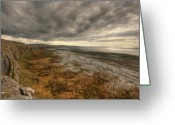 Barren Limestone Greeting Cards - Fanore Burren View Greeting Card by John Quinn