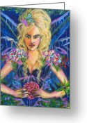 Ball Gown Painting Greeting Cards - Fantashia Fae Greeting Card by Kimberly Van Rossum