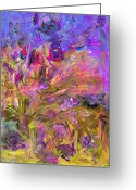 Bletila Striata Greeting Cards - Fantasia Painting Greeting Card by Don  Wright