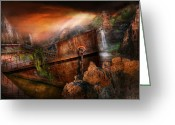 Ship-wreck Greeting Cards - Fantasy - Ship Wrecked Greeting Card by Mike Savad