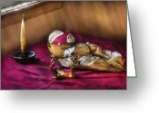 Psychic Greeting Cards - Fantasy - The Crystal Ball Greeting Card by Mike Savad