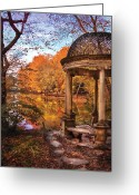 Thank You Greeting Cards - Fantasy - The Temple Greeting Card by Mike Savad