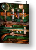 Weapon Photo Greeting Cards - Fantasy - Emergency Vampire Kit  Greeting Card by Mike Savad