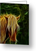 Unicorn Art Greeting Cards - Fantasy Horse Greeting Card by Paul Ward