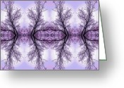 Duplicate Greeting Cards - Fantasy In Purple Greeting Card by James Steele