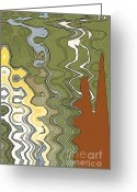 Expressionism Earth Greeting Cards - Fantasy Landscape Greeting Card by Ben and Raisa Gertsberg