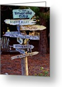 Pointing Greeting Cards - Fantasy signs Greeting Card by Garry Gay