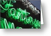 Rural Glass Art Greeting Cards - Fantasy- signs of the stimes-TOP Neon Graffiti Collection Greeting Card by Signsofthetimescollection