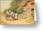 Open Road Painting Greeting Cards - Farewell Greeting Card by Arthur Claude Strachan