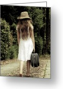 Suitcase Greeting Cards - Farewell Greeting Card by Joana Kruse