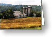 Silo Greeting Cards - Farm - Barn - Home on the range Greeting Card by Mike Savad