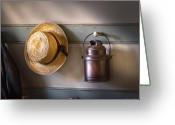 Coat Greeting Cards - Farm - Tool - The coat rack Greeting Card by Mike Savad