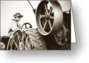 Farm Machine Greeting Cards - Farm Boy Greeting Card by Kerry Kralovic