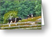 Got Greeting Cards - Farm - Cow - Moo  Greeting Card by Mike Savad