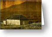 Mountain Texture Greeting Cards - Farm House Greeting Card by Charuhas Images