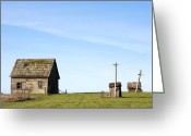 Architecture Greeting Cards - Farm House, Mendoncino, California Greeting Card by Paul Edmondson