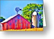 Weather Vane Greeting Cards - Farm near Gettysburg Greeting Card by Bill Cannon
