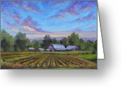 Carolina Painting Greeting Cards - Farm on Glenn Bridge Greeting Card by Jeff Pittman