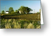 Round Barn Greeting Cards - Farm on NN Greeting Card by Jan Faul