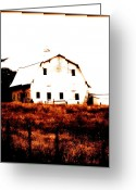 Cornfield Greeting Cards - Farm Used Up Greeting Card by Kathy Sampson