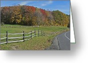 Split Rail Fence Greeting Cards - Farm with Split Rail Fence 2 of 2 Greeting Card by Gregory Scott