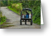 Campesino Greeting Cards - farmer transporting their milk cans. Department of Narino. Republic of Colombia. Greeting Card by Eric Bauer