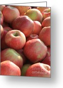 Farmers Markets Greeting Cards - Farmers Market Apples Greeting Card by Carol Groenen