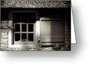 Roof Greeting Cards - Farmhouse Window Greeting Card by David Bowman