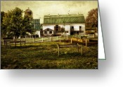 Madeline Ellis Greeting Cards - Farmland in Intercourse - Pennsylvania Greeting Card by Madeline Ellis