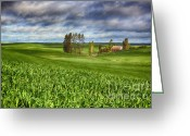 Barn Images Greeting Cards - Farmstead Greeting Card by Reflective Moments  Photography and Digital Art Images