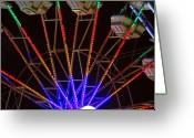 The Lightning Man Greeting Cards - Farris Wheel Clos-up Greeting Card by James Bo Insogna