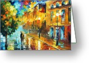 Europe Painting Greeting Cards - Fascination  Greeting Card by Leonid Afremov