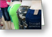 Got Greeting Cards - Fashion - Baby got back -  pants Greeting Card by Paul Ward