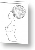 Chic Greeting Cards - Fashion drawing Greeting Card by Frank Tschakert