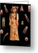 Greek Sculpture Greeting Cards - Fashion Jewellery  Greeting Card by Eric Kempson
