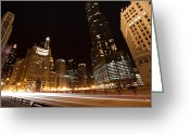 Michigan Avenue Greeting Cards - Fast Forward Greeting Card by Daniel Chen