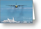 C130 Greeting Cards - Fat Albert Greeting Card by Sebastian Musial