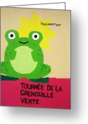 Toad Greeting Cards - Fat Frog Best Greeting Card by Oliver Johnston