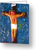 God Reliefs Greeting Cards - Father  Forgive  Them Greeting Card by Carl Deaville