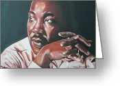 Civil Rights Greeting Cards - Father of Dreams Greeting Card by Belle Massey